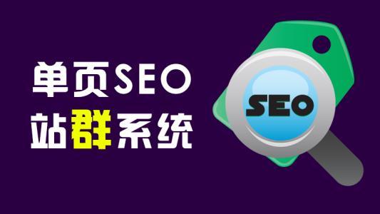 单页SEO站群技术,用10个网站优化排名!