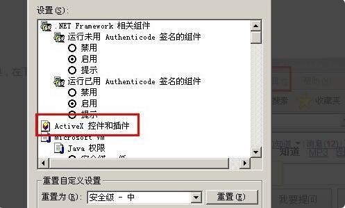 activex控件怎么启用4