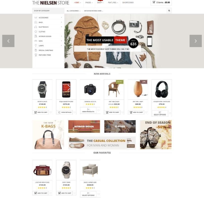 WordPress在线购物主题Nielsen-IT技术网站