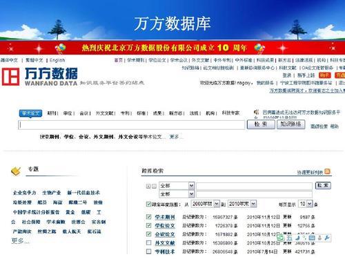 万方数据库免费入口(官网入口)-IT技术网站