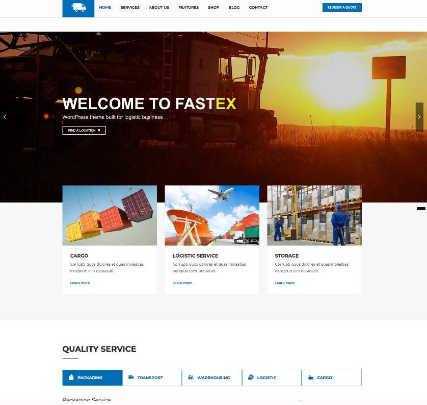 WordPress物流运输主题Fastex-IT技术网站