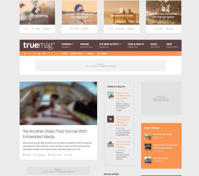 WordPress杂志博客主题Truemag-IT技术网站