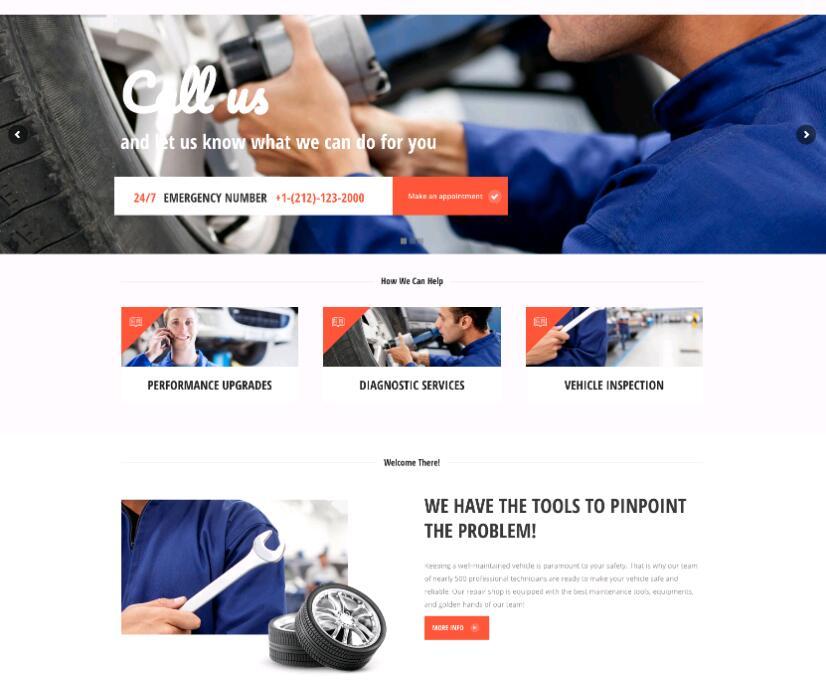 WordPress汽车维修主题Fix & Ride-IT技术网站