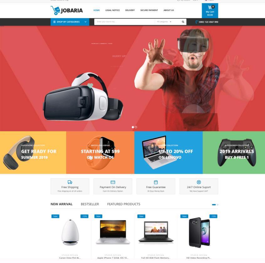 WordPress商城主题Jobaria电商网店主题-IT技术网站