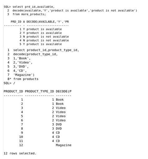 oracle decode