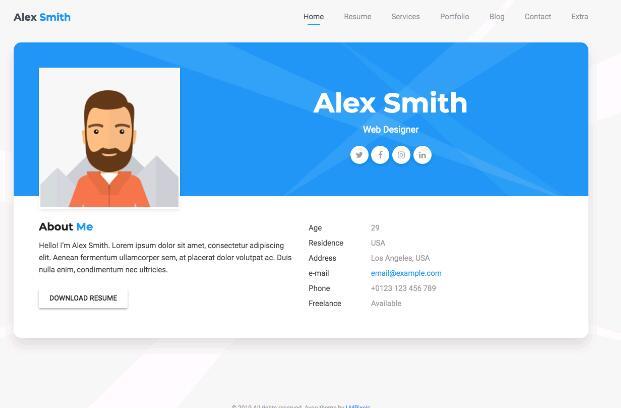 WordPress个人简历-IT技术网站