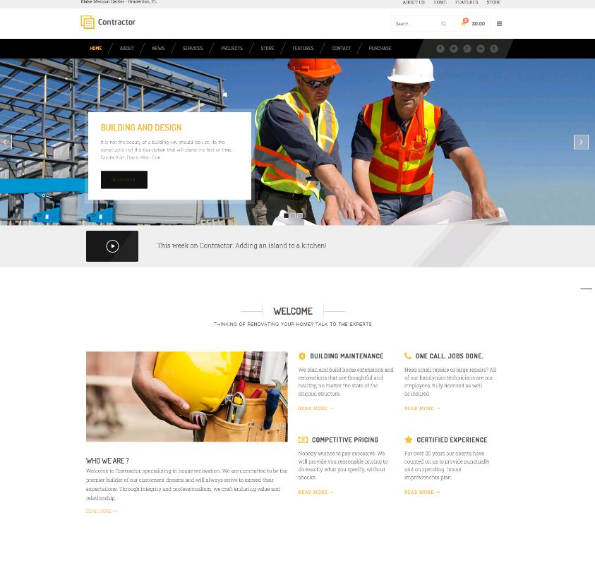 WordPress建筑工程企业主题Contractor-IT技术网站