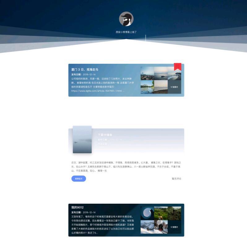 WordPress小清新文艺博客主题Xmas-IT技术网站