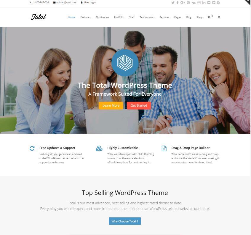 多用途WordPress主题:Total-IT技术网站