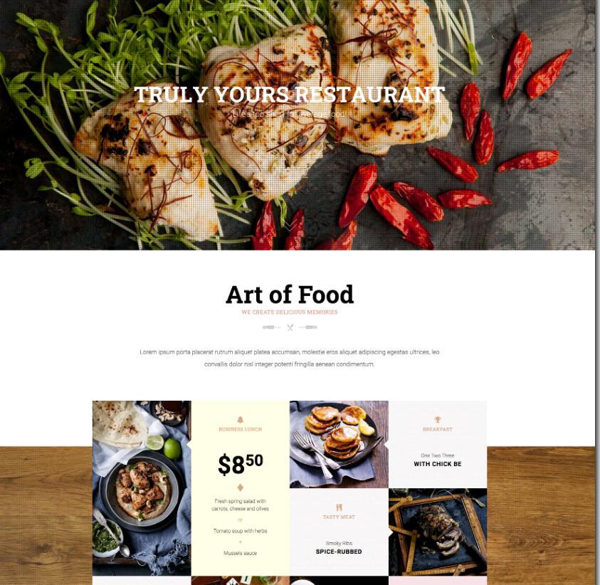 WordPress餐饮美食主题Restaurant-IT技术网站