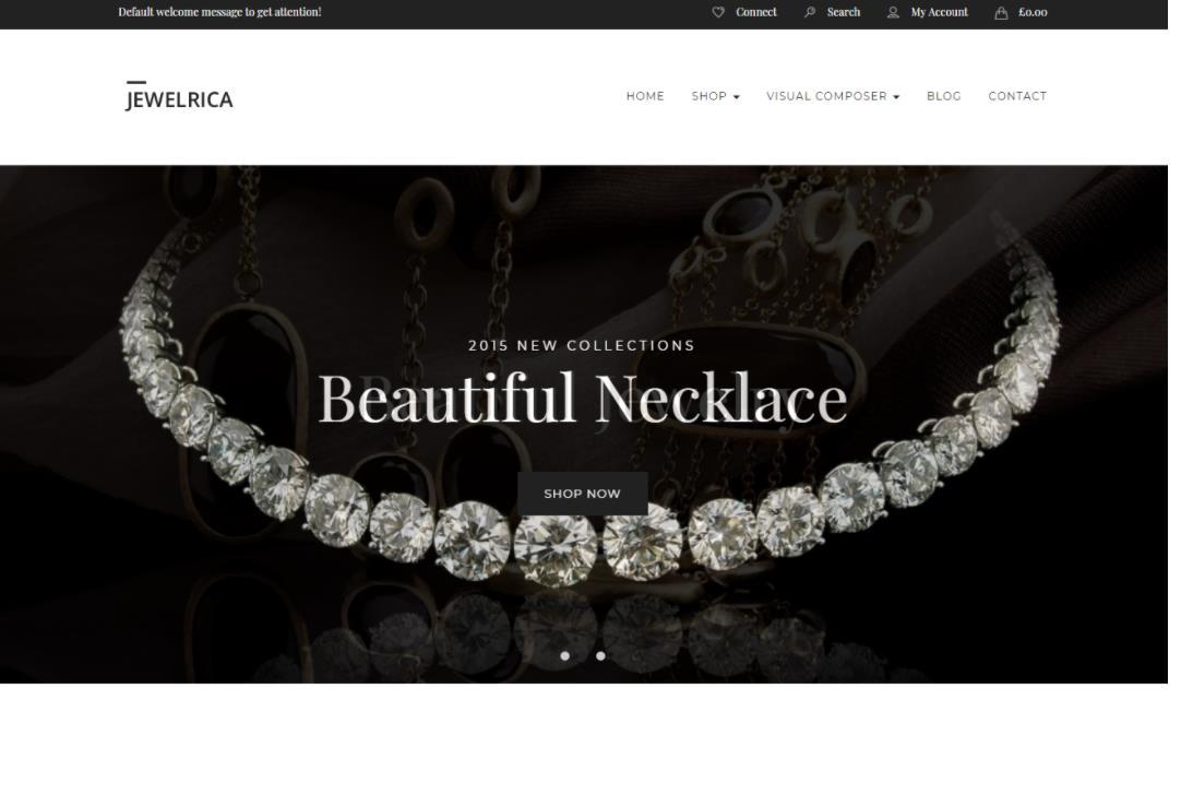 购物商城WordPress主题:Jewelrica-IT技术网站