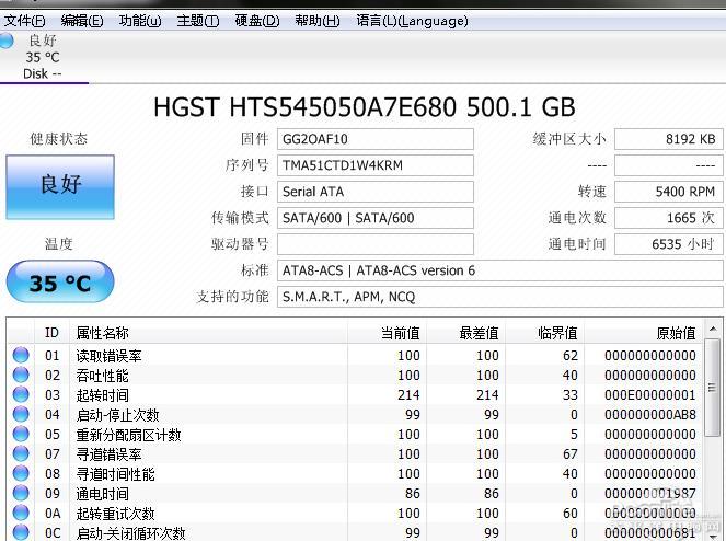CrystalDiskInfo(硬盘检测工具) 8.12.6 中文版-IT技术网站