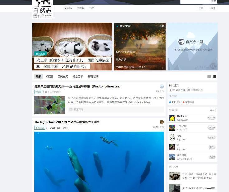 国人原创WordPress高级商用主题:自然志-IT技术网站