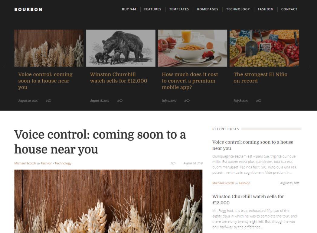博客WordPress主题:Bourbon-IT技术网站