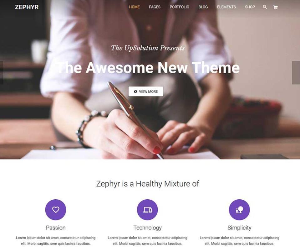 多用途WordPress主题:Zephyr-IT技术网站